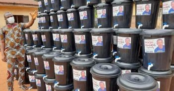Covid-19: Anambra lawmaker, Nonso Smart Okafor donates tap buckets, sanitizers, others to constituents